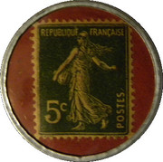 5 centimes -  manufacture Haguenauer -  revers