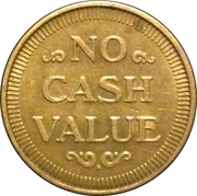 Token - No Cash Value (Eagle looking right; 22 mm; Brass) – revers