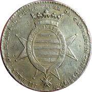 Ile de france - Antoine Louis Le Fèvre de Caumartin, prévot des marchands de Paris – avers