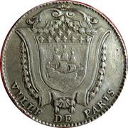 Ile de france - Antoine Louis Le Fèvre de Caumartin, prévot des marchands de Paris – revers