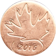 RCM 2016 Canada Day Token – avers