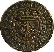 Louis XIII Le Juste Cu 27 – revers