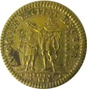 Louis XV et Philippe D'Orléans – revers