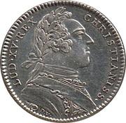 Louis XV - Ville d'Angers – avers