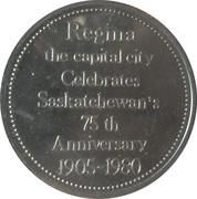 City Hall Regina token – revers