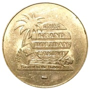 Aruba Grand Holida Casino 25 Cent Gaming Token – avers