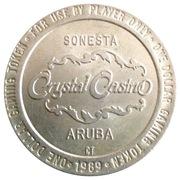 Crystal Casino One Dollar Gaming Token(Sonesta, Aruba) – avers