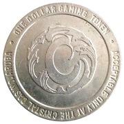 Crystal Casino One Dollar Gaming Token(Sonesta, Aruba) – revers