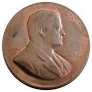 Herbert Hoover Inauguration Token – avers