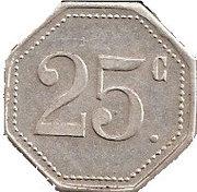 Jeton 25 centimes franc – avers