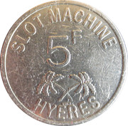 Casino de Hyeres (83) - 5 francs – avers
