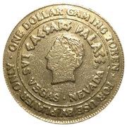 Jeton de casino - 1 dollar Caesars Palace (Las Vagas, Nevada) – avers