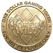 Jokers Wild Casino One Dollar Gaming Token – avers