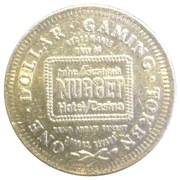 JOHN ASCUAGA'S NUGGET CASINO ONE DOLLARGAMING TOKEN (SPARKS, NEVADA) – avers