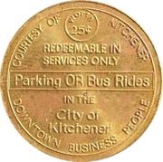 Kitchener Parking & Transit Token – avers