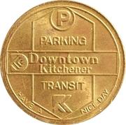 Kitchener Parking & Transit Token – revers