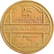 Guelph Parking & Transit Token – avers