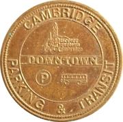 Cambridge Parking & Transit Token – revers