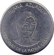 Juana Azurduy (Heroines of the Patria Grande) – avers