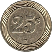 Casino Token - Iguazu 25 centavos – revers