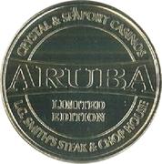 Aruba Columnar Cactus Casino Token – revers