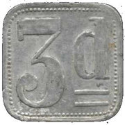 3 Pence (Liverpool Internment Camp Token) – revers