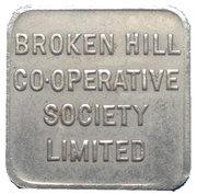 Bread Token - Half Loaf, Broken Hill Co-Operative Society Limited – avers