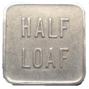 Bread Token - Half Loaf, Broken Hill Co-Operative Society Limited – revers