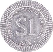 Wrest Point Casino Tasmania - Token – avers