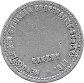 ½ Loaf Bakery Token - Newcastle and Suburban Cooperative Society Ltd. – avers