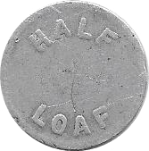 ½ Loaf Bakery Token - Newcastle and Suburban Cooperative Society Ltd. – revers