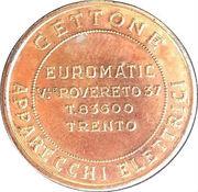 Jukebox Token - Gettone Apparecchi Elettrici (Euromatic, Trento) – avers
