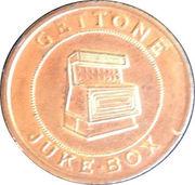 Jukebox Token - Gettone Apparecchi Elettrici (Euromatic, Trento) – revers