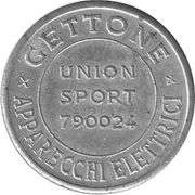 Jukebox Token - Gettone Apparecchi Automatici (Union Sport) – avers