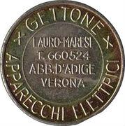 Jukebox Token - Gettone Apparecchi Elettrici (Lauro-Maresi, Verona) – avers