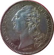 Louis XVI, Académie Françoise – avers