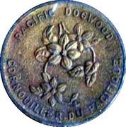 Médaille - Colombie-Britannique - Cornouiller du Pacifique – avers