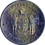 Médaille - Terre-Neuve - Sarracénie Pourpre – revers