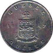 Médaille - Québec - Lis Blanc – revers