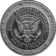 Kennedy Half Dollar Memorial Sudbury Canada Medal – revers