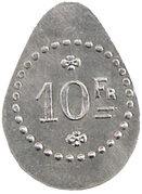 10 francs - J.B Fanget, Maison de commission - Saint Etienne [42] – revers