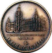 1985 24 June Le Québec en fêtes - Nancy Huard Medals – avers