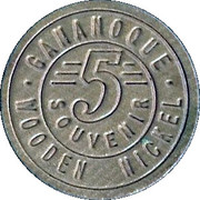 Canadian Gateway Gananoque (Canada), wooden nickel – revers