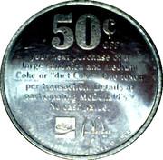 Jeton 50¢ McDonald – revers
