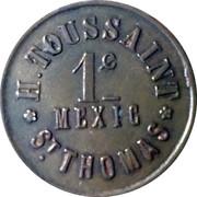 H. Toussaint 1c Mexic, St. Thomas - 1880 – avers