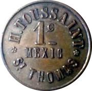 H. Toussaint 1c Mexic, St. Thomas - 1880 – revers