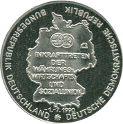 Token - Deutschland (Inkrafttretten der Währungs) – avers