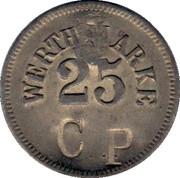Wertmarke - 25 CP Couter struck – avers