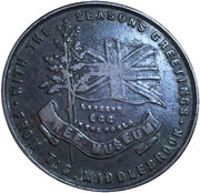 Museum token - T G Middlebrook – revers