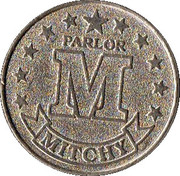 JAPANESE GAMING TOKEN - MITCHY PARLOR – revers